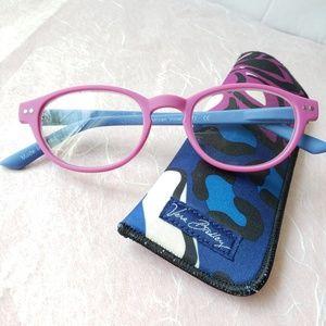 Vera Bradley magnifying reader glasses / case